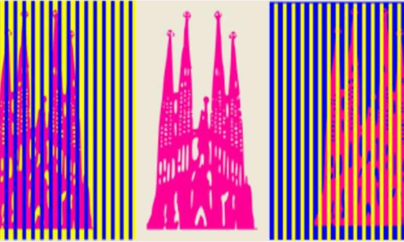 在这三种情况下,圣家族教堂的颜色都是相同的,但由于周围的颜色而看起来有所不同。这是视觉幻觉.png